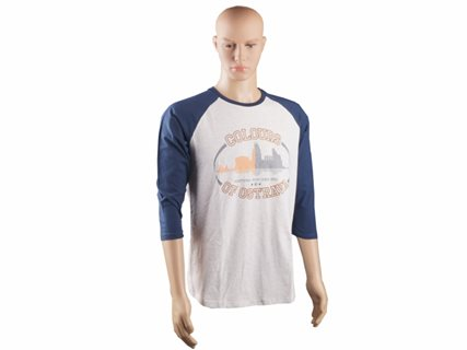 Men's baseball T-Shirt Colours, blue-grey, size XL image