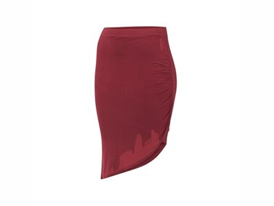 Skirt Colours Urban Classics, burgundy, size M image