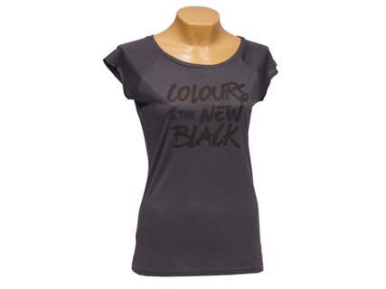 Women's T-Shirt Colours is the new black, dark grey, size S image